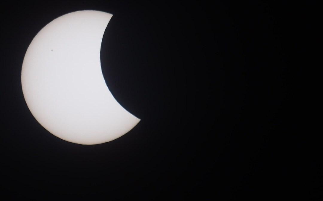 The solar eclipse in photos
