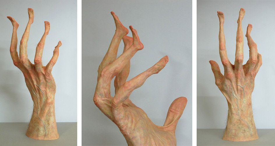 Twisted Sculptures Put Body Parts in All the Wrong Places