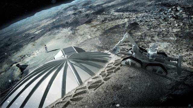 Check Out The 3D-Printing Technology That Will Build A Base On The Moon