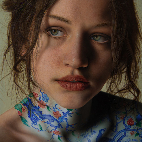 Marco Grassi Paints Hyper-Real Portraits Of Women With A Twist