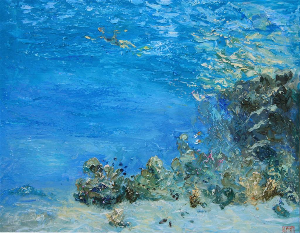 Guinness World Record Breaker Alexander Belozor Paints Underwater - 8