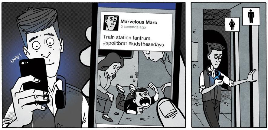 """""""Please share."""" — A Comic on Social Media"""