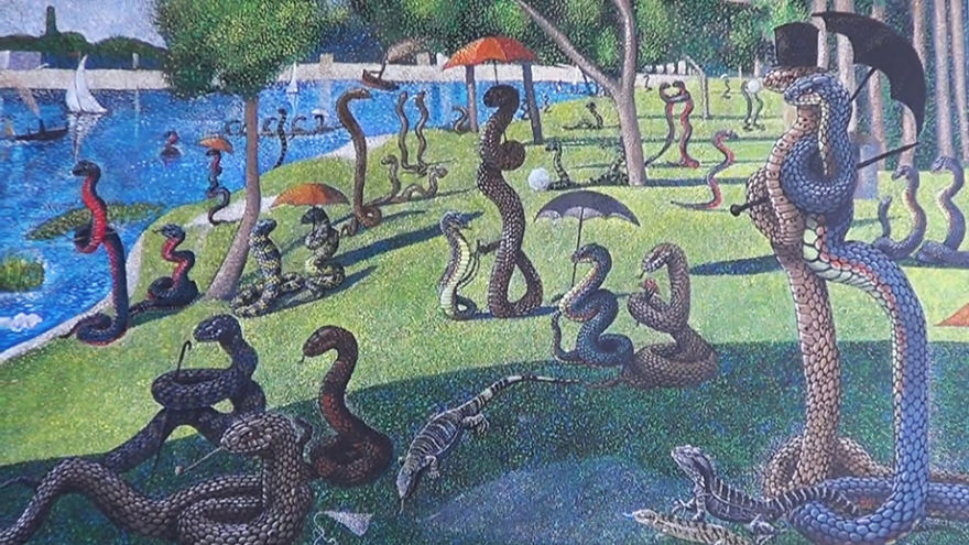 Snakes Take Over The Most Famous Paintings in The History of Art