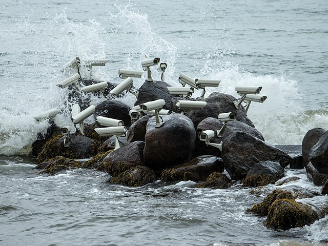 Artist Installs Clusters of Security Cameras and Satellite Dishes in Public Spaces