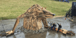 Giant Sculptures Created From Scrap Wood