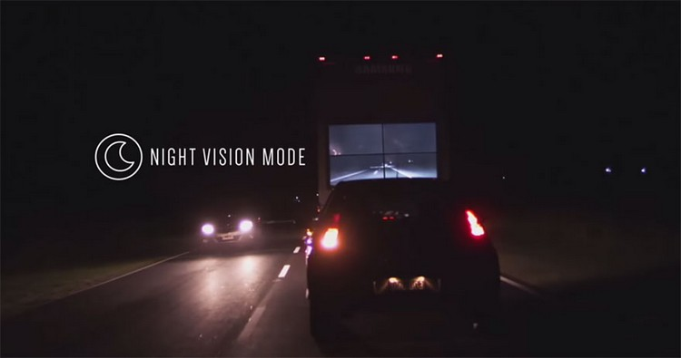 This Samsung Safety Truck Could Save Lives By Showing The Road Ahead On A Huge TV