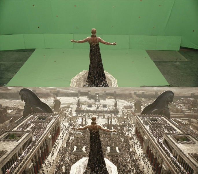 Surprising Before-and-after Pics Compare Movie Scenes Pre- and Post-Visual Effects