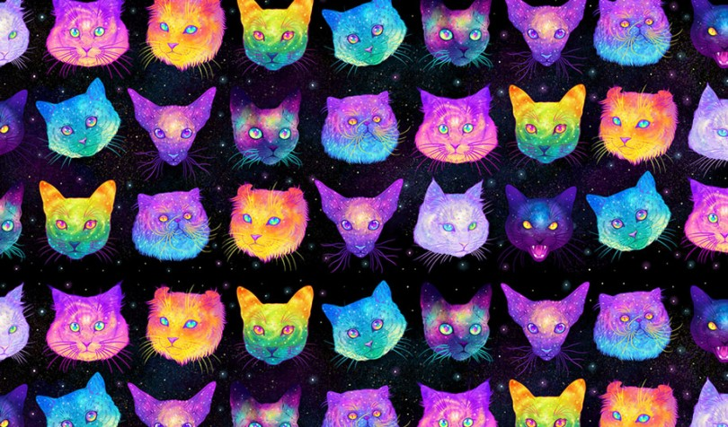 Galactic Cats: Jen Bartel's Psychedelic Drawings Unite Cats And Space