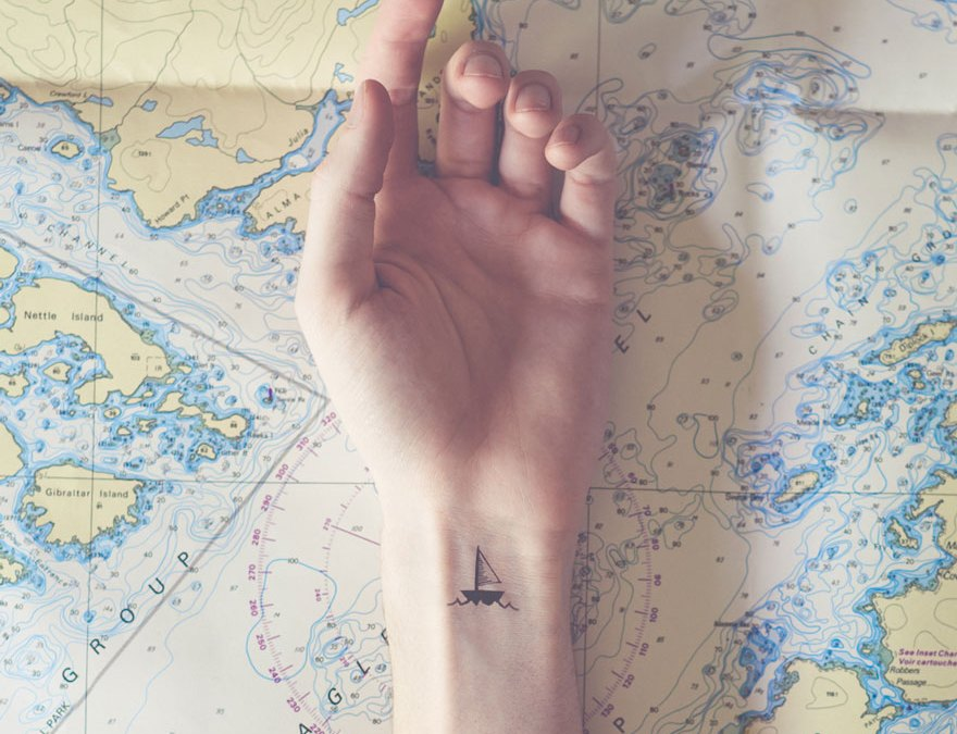 Tiny Tattoos Paired With Matching Backgrounds By Austin Tott