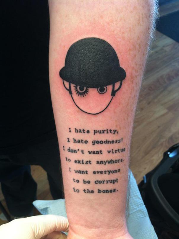 Book-Inspired Tattoos - Clockwork Orange Tattoo