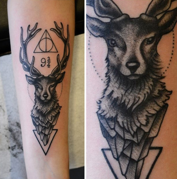 Book-Inspired Tattoos - Harry Potter