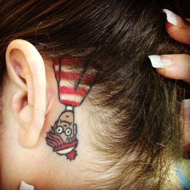 Book-Inspired Tattoos - Where's Waldo Tattoo