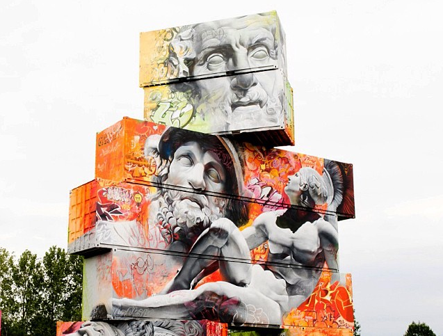 The Street Art of PichiAvo Mixes Classical Art and Graffiti