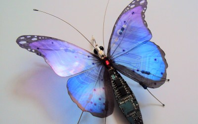 Winged Insects Constructed from Video Game and Computer Components