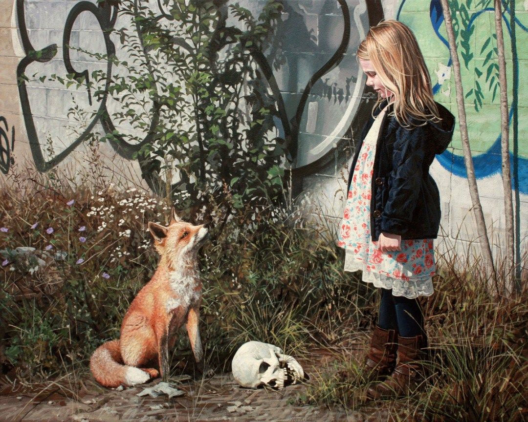 Hyperrealistic ,Paintings,Children, Animals