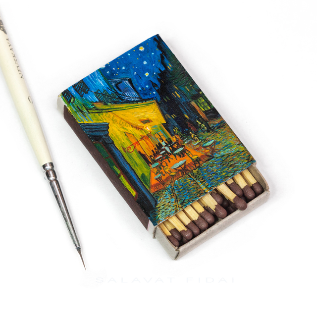 "Van Gogh Matchboxes - ""Café Terrace at Night"""