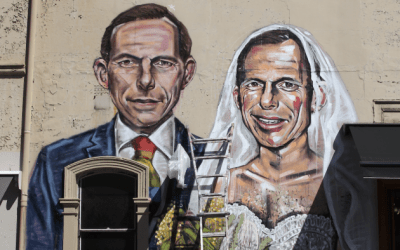 Sydney artist makes same-sex marriage statement in new mural