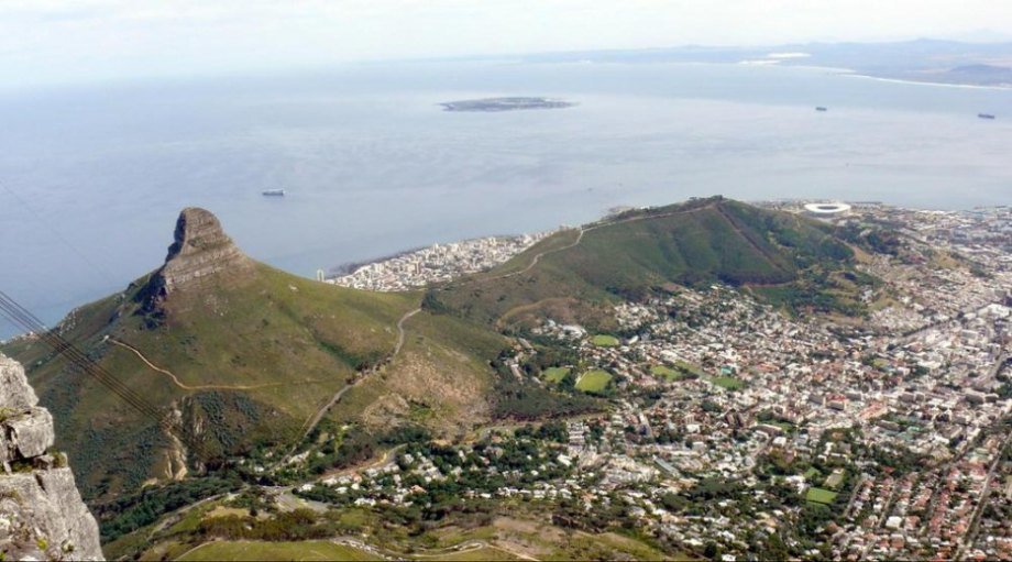 Lion's Head Mountain over Cape Town, South Africa