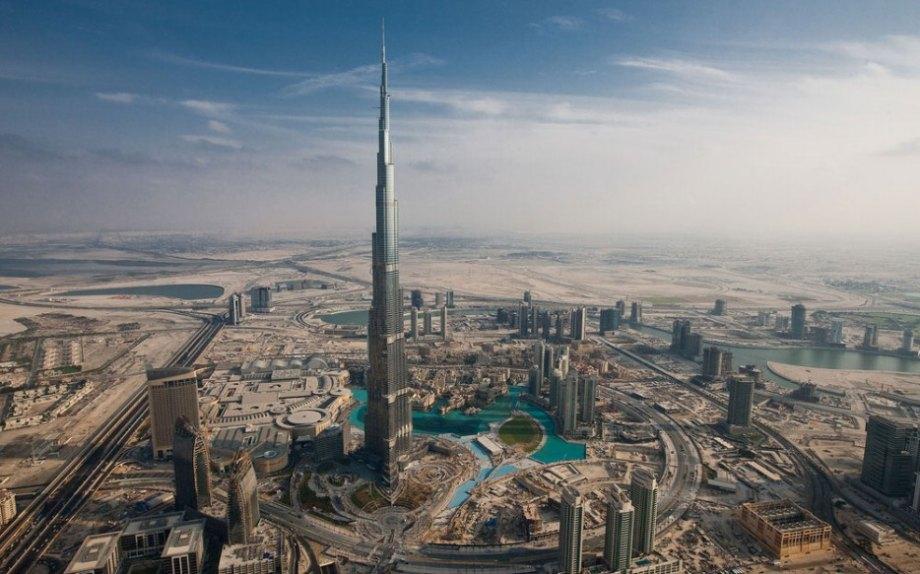The tallest building in the world, Burj Khalifa in Dubai