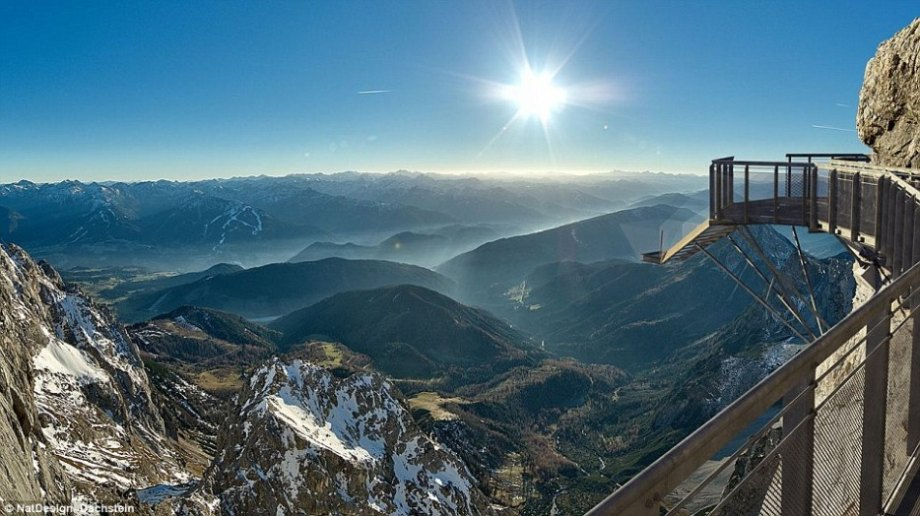The Dachstein Glacier resort in the Alps is home to one of the highest bridges in the world. With a 1,300 drop to the bottom of the mountains, if you get dizzy just looking at the pictures then this stairway to nothingness isn't for you.
