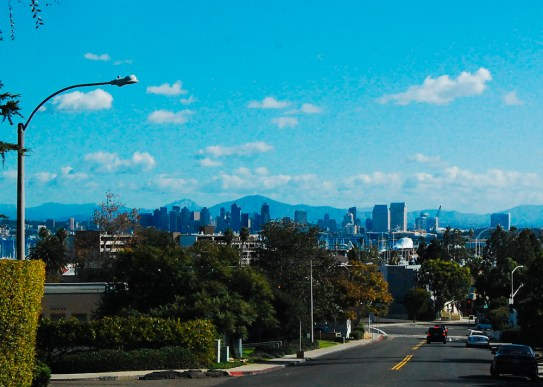 Downtown San Diego from Point Loma