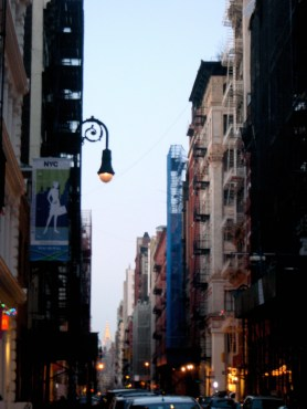 View uptown from Soho