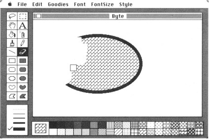 MacPaint in 1990, looking all Photoshop