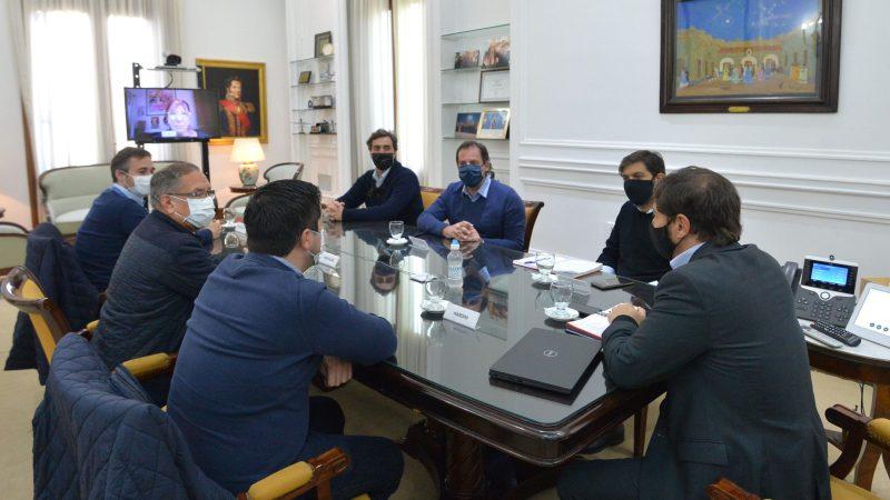 Kicillof con intendentes de la primera sección electoral