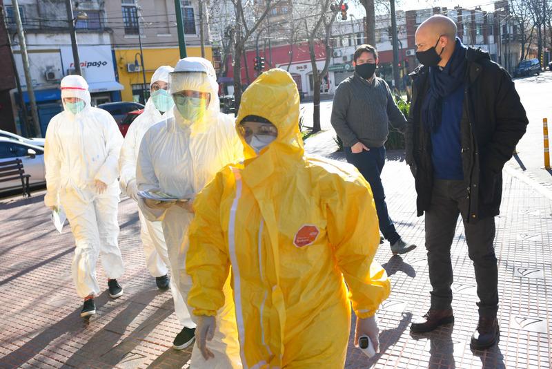 San Fernando realizó operativos de detección de coronavirus en centros comerciales