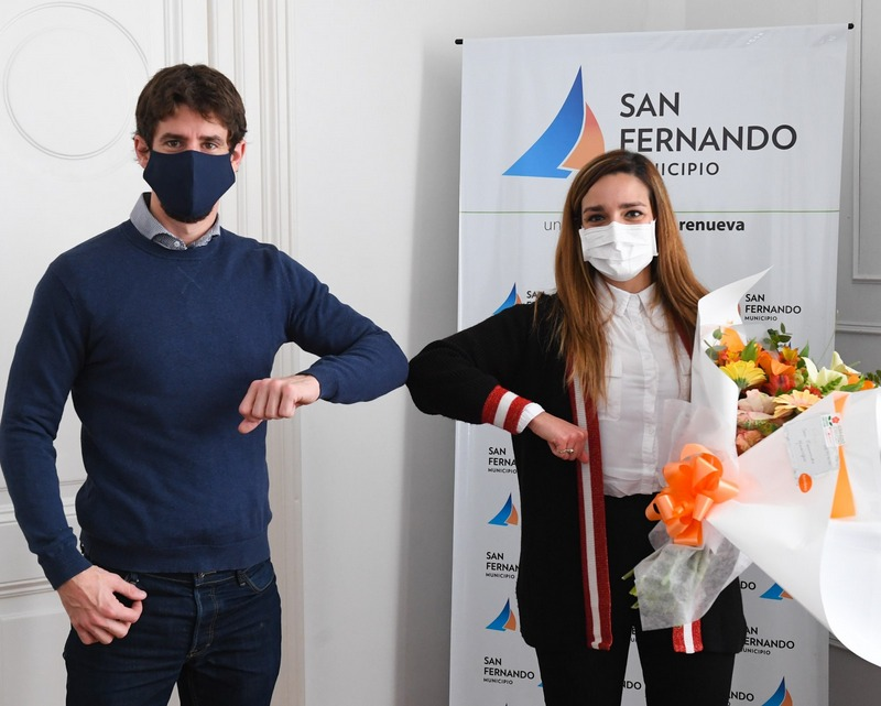 Juan Andreotti reconoció a la primera médica de San Fernando que donó plasma para pacientes con coronavirus