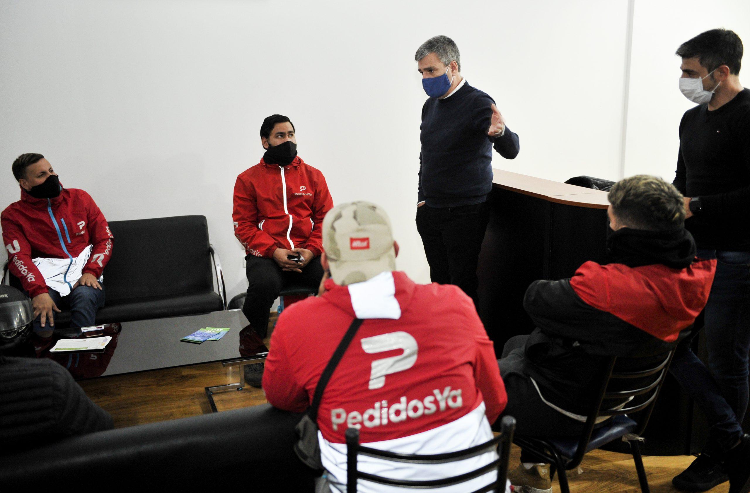 """Zabaleta lanzó el programa """"Reparto Seguro"""", para brindar más seguridad a los repartidores de delivery y a los vecinos"""