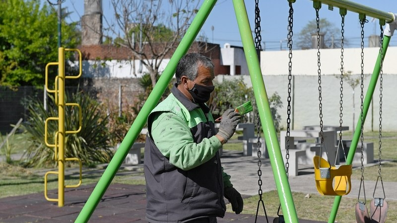 San Fernando sigue manteniendo y renovando los espacios públicos de la ciudad