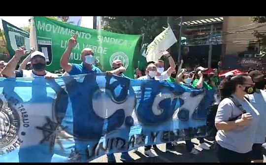 Movilización en defensa de las 500 familias de trabajadores  del Parque de la Costa
