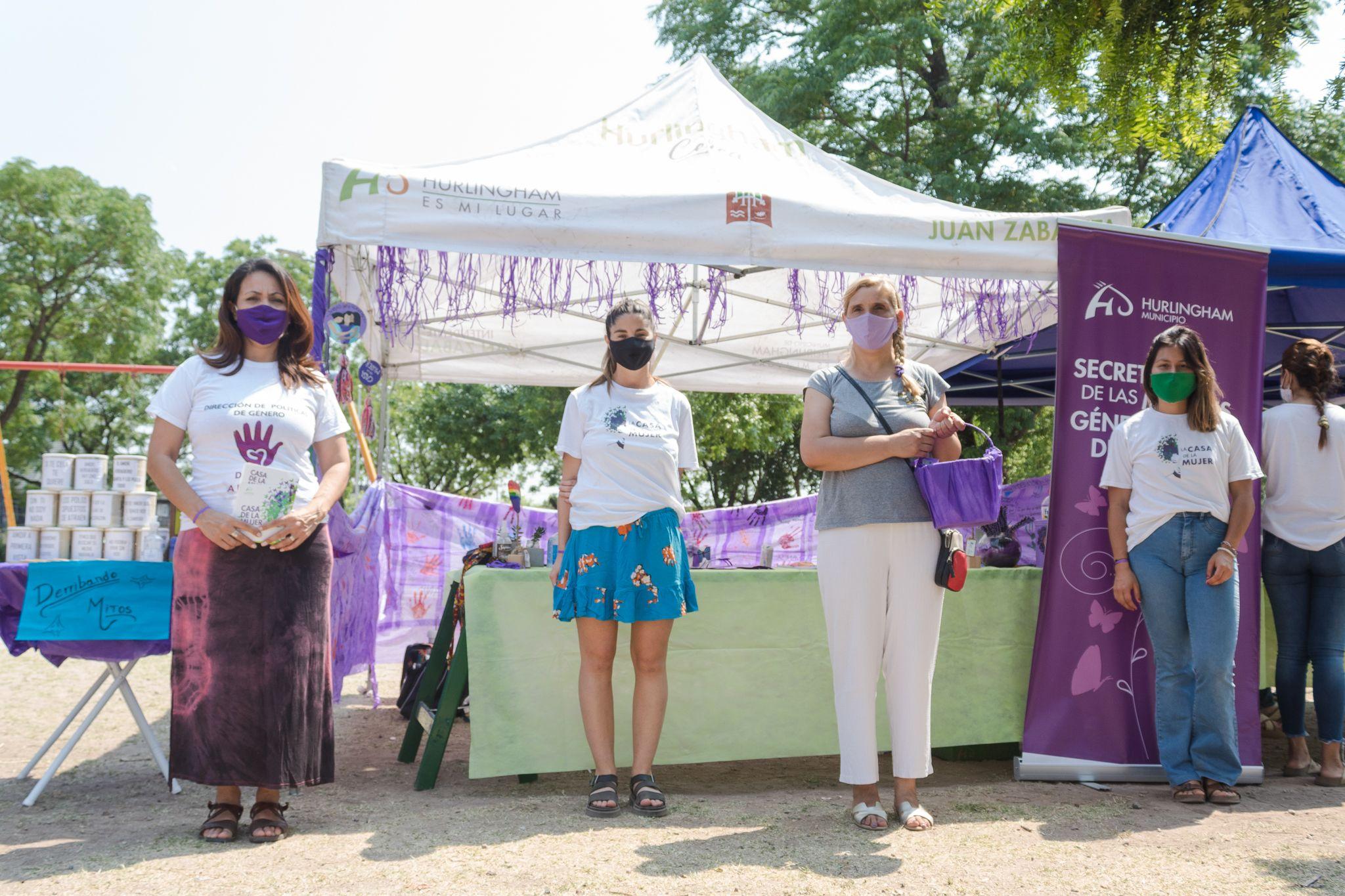 Hurlingham: El Municipio conmemora la Semana de la Eliminación de la Violencia contra la Mujer con actividades en todo el distrito