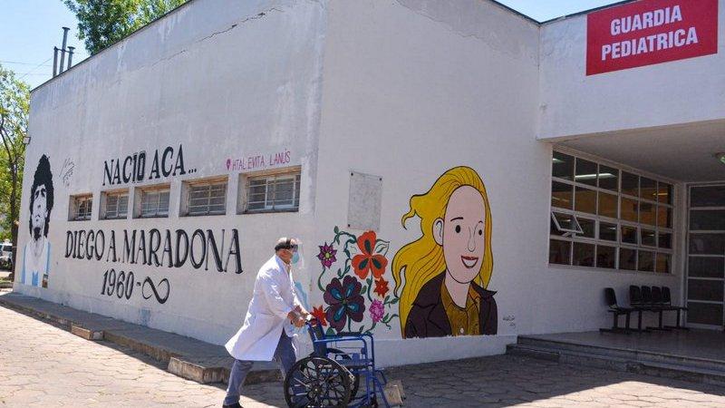 La Provincia homenajeó a Diego Maradona en el hospital público que lo vio nacer