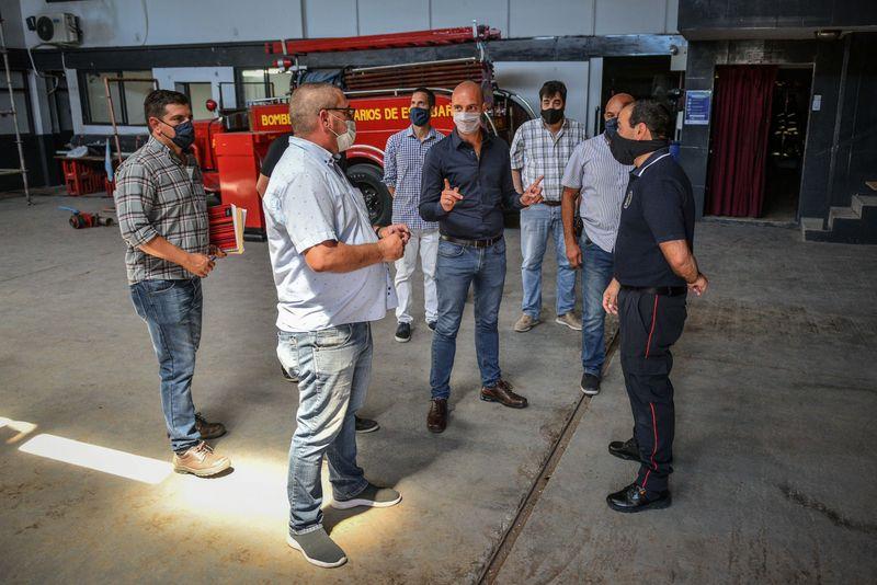 Presupuesto Participativo: Beto Ramil supervisó la remodelación de la Estación de Bomberos Voluntarios de Belén de Escobar