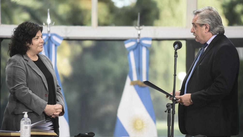 """Alberto Fernández: """"Encomendé a Vizzotti que protocolice al máximo el suministro y aplicación de vacunas"""""""