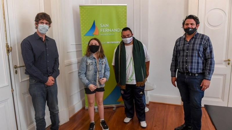 Juan Andreotti distinguió a sanfernandinos medallistas de los Juegos Bonaerenses en la modalidad virtual