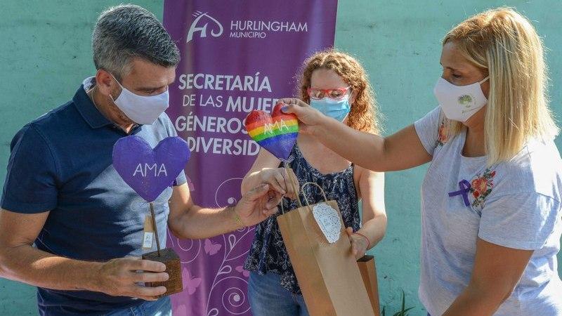 Zabaleta acompañó la presentación 2021 de la Ley Micaela en la Casa de la Mujer