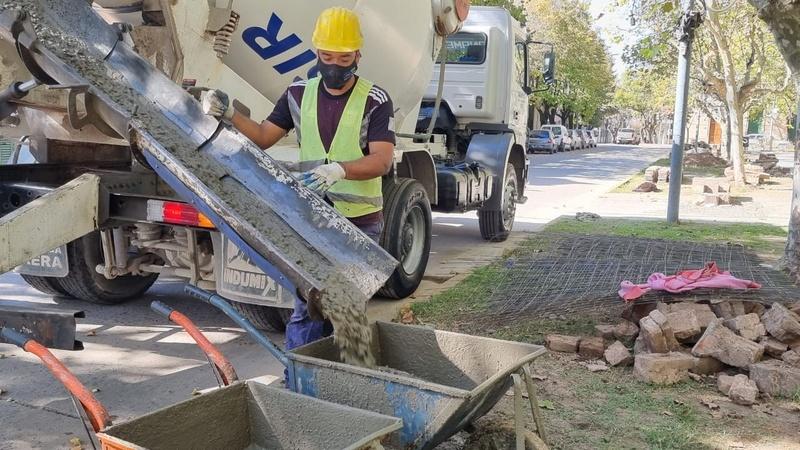 Capilla del Señor, siguen las obras de mejoras en la Plaza San Martín