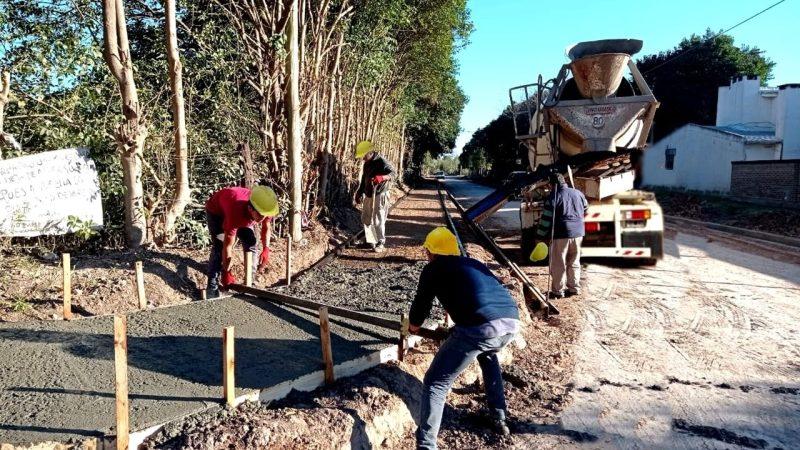 En Robles, avanzan los trabajos en el nuevo ingreso