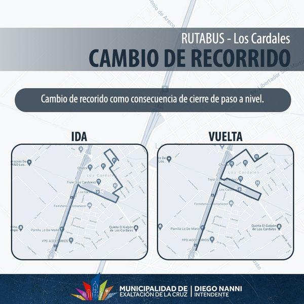 Los Cardales, cambio de recorrido del, Transporte Público, por obras
