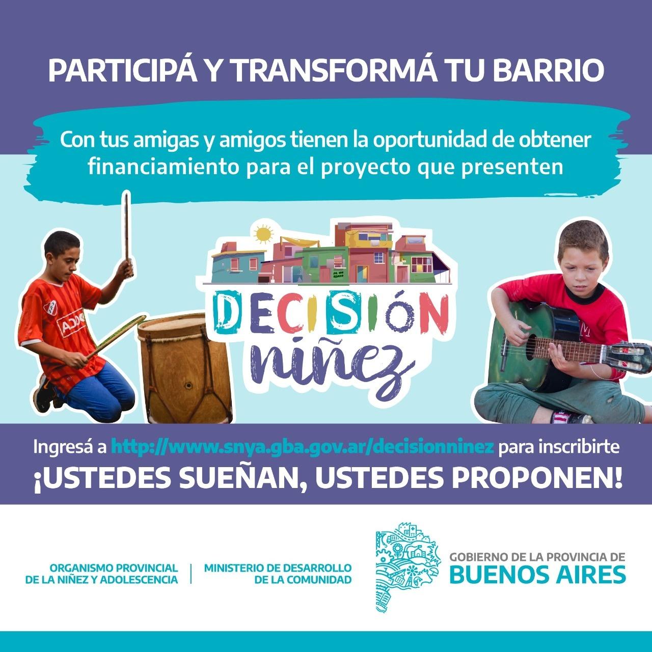 """Llega """"Decisión Niñez"""" para que los Chicos y Chicas transformen su comunidad"""