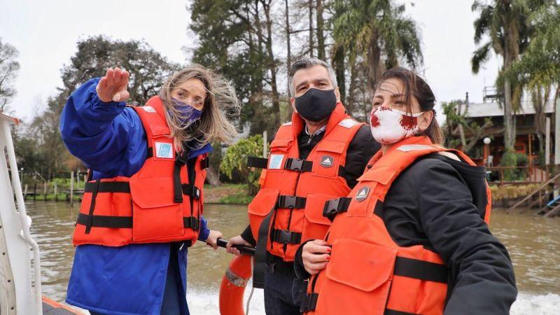 Zabaleta, Frederic y Galmarini visitaron proyectos productivos en la zona del Delta