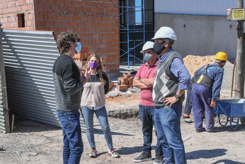 Juan Andreotti recorrió el avance de obra de la futura Planta de Reciclaje Municipal de San Fernando