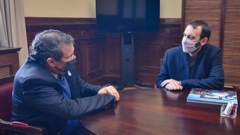 El intendente Damián Selci se reunió con el ministro de Cultura Tristán Bauer