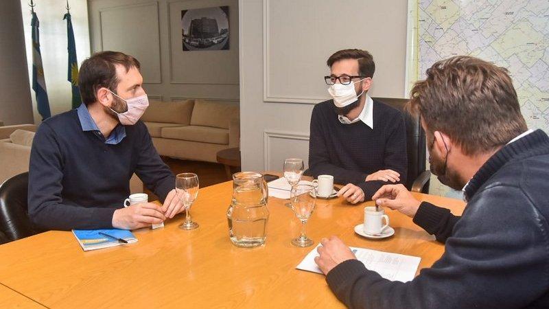 Selci se reunió con los ministros bonaerenses de Infraestructura y de Justicia y DDHH