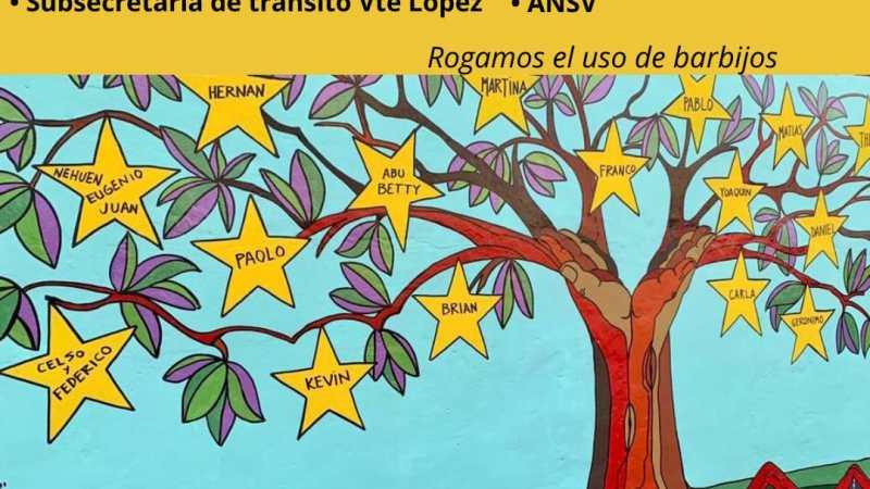 Se inaugura el mural en homenaje a las víctimas de tránsito