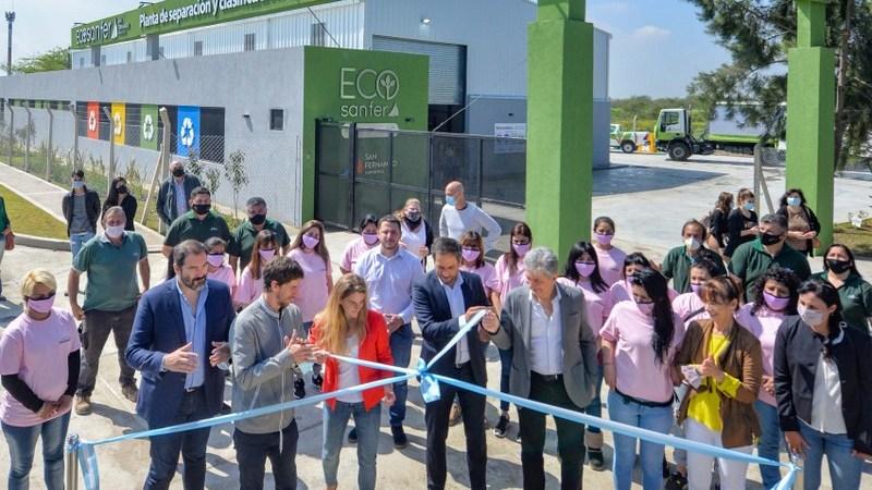 Andreotti y Cabandié inauguraron la Planta de Reciclaje Municipal de San Fernando