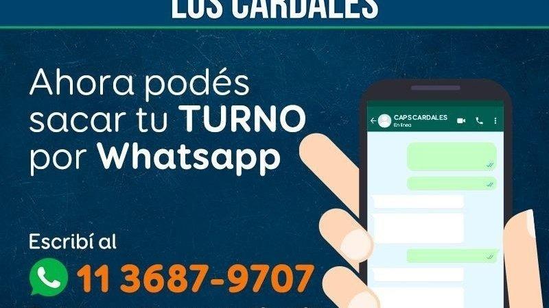 Turnos por WhatsApp para el CAPS de Los Cardales